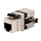Cat5e RJ-45 Fully Shielded 180-Degree Punch Down Keystone Jack