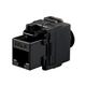 Monoprice Cat6 RJ-45 Toolless Snap Back 180-Degree Keystone, Black