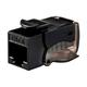 Monoprice Cat6 RJ-45 Toolless Push Lever 90-Degree Keystone, Black