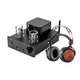 Stereo Tube Headphone Amp 24bit DAC, Bluetooth, and Monolith Planar Headphones