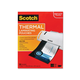 "Scotch Thermal Laminating Pouch - Sheet Size Supported: Letter 8.50"" Width x 11"" Length - Laminating Pouch/Sheet Size: 9"" Width x 11.50"" Length - for Photo, Document - Clear - 50 / pk"