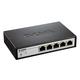 D-Link DGS-1100-05 EasySmart 5-Port Gigabit Switch - 5 Ports - Manageable - 10/100/1000Base-T - 5 x Network - Twisted Pair - Gigabit Ethernet - 2 Layer Supported - DesktopLifetime Limited Warranty
