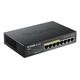 D-Link DGS-1008P 8-Port Gigabit Metal Desktop Switch with 4 PoE Ports - 8 Ports - 4 x POE - 4 x RJ-45 - 10/100/1000Base-T - Desktop