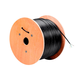 Monoprice Cat5e Ethernet Bulk Cable - Solid, 350Mhz, UTP, Pure Bare Copper Wire, Outdoor, 24AWG, No Logo, 1000ft, Black
