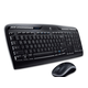 Logitech Wireless Desktop MK320 Keyboard and Mouse - USB Wireless RF Keyboard - 115 Key - Black - USB Wireless RF Mouse - Optical - Scroll Wheel - Black - Multimedia, Calculator, Media Player