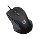 Logitech G300S Optical Gaming Mouse - Optical - Cable - USB - 2500 dpi - Scroll Wheel - 9 Button(s) - Symmetrical