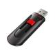 SanDisk Cruzer Glide USB Flash Drive - 128 GB - USB 2.0 - Black, Red - Retractable