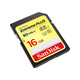 SanDisk Extreme PLUS 16 GB SDHC - UHS-I (U3) - 90 MB/s Read - 60 MB/s Write