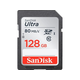 SanDisk Ultra 128 GB SDXC - Class 10/UHS-I - 80 MB/s Read