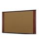 "3M Standard Cork Bulletin Board - 36"" Height x 24"" Width - Mahogany Wood Frame - 1 Each"