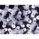 10 Count Crystal Flat Ghost Halloween String Light 11.5 ft