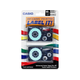 "Casio Label Tape - 0.71"" Length - Dye Sublimation - White - 2 / Pack"