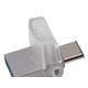 Kingston DataTraveler microDuo 3C - 64 GB - USB 3.1 - Rotating Cap