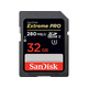 SanDisk Extreme Pro 32 GB SDHC - Class 3/UHS-II - 280 MB/s Read - 250 MB/s Write - 1 Card