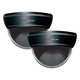 Night Owl Security DUM-DOME-2B 2-Pack of Decoy Black Dome Cameras with Flashing LED Deterrent Light