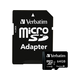 Verbatim 64GB Premium microSDXC Memory Card with Adapter, UHS-I Class 10 - TAA Compliant - UHS-1/Class 10 - 1pk