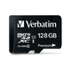 Verbatim 128GB Premium microSDXC Memory Card with Adapter, UHS-I Class 10 - TAA Compliant - Class 10/UHS-I (U1) - 45 MB/s Read1 Pack