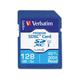 Verbatim 128GB Premium SDXC Memory Card, UHS-I Class 10 - TAA Compliant - Class 10/UHS-I (U1) - 45 MB/s Read1 Pack - 300x Memory Speed
