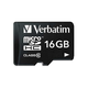 Verbatim 16GB Premium microSDHC Memory Card with Adapter, UHS-I Class 10 - TAA Compliant - Class 10 - 1 Card/1 Pack