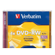 Verbatim DVD+RW 4.7GB 4X with Branded Surface - 1pk Jewel Case - TAA Compliant - 2 Hour Maximum Recording Time