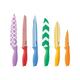 "Cuisinart 12Pc Printed Color Knife Set with Blade Guards - 12 Piece(s) - Chef's Knife, Slicer/Carver, Bread Knife, Santoku Knife, Utility Knife, Paring Knife - 8"" Length Chef's Knife"