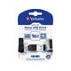 Verbatim 16GB Nano USB Flash Drive with USB OTG Micro Adapter - Black - 16GB - 1 Pack
