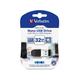 Verbatim 32GB Nano USB Flash Drive with USB OTG Micro Adapter - Black - 32GB - 1 Pack