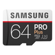 Samsung 64GB Pro Plus MicroSDXC Card with SD Adapter