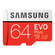 Samsung 64GB EVO Plus Micro SDXC Card with SD Adapter