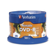 Verbatim DVD-R 4.7GB 16X White Inkjet Printable with Branded Hub - 50pk Spindle - TAA Compliant - 4.7GB - 50 Pack