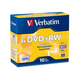 Verbatim DVD+RW 4.7GB 4X with Branded Surface - 10pk Jewel Case - TAA Compliant - 2 Hour Maximum Recording Time