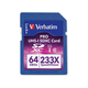 Verbatim 64GB 233X Pro SDXC Memory Card, UHS-1 Class 10 - TAA Compliant - Class 10 - 1pk