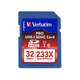 Verbatim 32GB 233X Pro SDHC Pro Memory Card, UHS-1 Class 10 - TAA Compliant - Class 10/UHS-I - 35 MBps Read - 1 Card - 233x Memory Speed