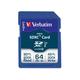 Verbatim 64GB Pro 600X SDXC Memory Card, UHS-1 Class 10 - TAA Compliant - 64GB SDXC - 1pk