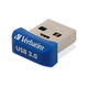 Verbatim 64GB Store 'n' Stay Nano USB 3.0 Flash Drive - Blue - TAA Compliant - 64 GB - Blue - 1 Pack