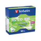 Verbatim CD-RW 700MB 4X-12X High Speed with Branded Surface - 10pk Slim Case - TAA Compliant