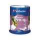 Verbatim DVD+R 4.7GB 16X White Inkjet Printable - 100pk Spindle - TAA Compliant - 120mm - Printable