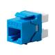 Monoprice Cat6 RJ45 180-Degree Punch Down Keystone Dual IDC, Blue