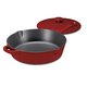 Cuisinart CI45-30CR Chef's Classic Enameled Cast Iron 12-Inch Chicken Fryer with Cover - Cardinal Red