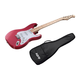 Indio by Monoprice Cali Classic Electric Guitar with Gig Bag, Wine Red