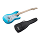 Indio by Monoprice Cali Classic Electric Guitar with Gig Bag, Blue Burst