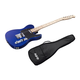 Indio by Monoprice Retro Classic Electric Guitar with Gig Bag, Blue