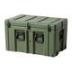 Pure Outdoor by Monoprice Stackable Rotomolded Weatherproof Case with Customizable Foam and wheels, 30 x 18 x 18 inches, Green