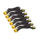 APC Power Cord Kit (6 ea), Locking, C13 to C14, 0.6m, North America - 10 A Current Rating - Black