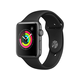Apple Watch Series 3 GPS, 42mm Space Gray Aluminum Case with Black Sport Band (Open Box)