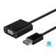 Monoprice Essentials DisplayPort 1.2a to VGA Active Adapter, Black