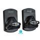 Monoprice Essentials Low Profile 22 lb. Capacity Speaker Wall Mount Brackets (Pair), Black
