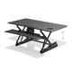 Workstream by Monoprice Full-Size Sit-Stand Workstation Converter, Height Adjustable Desk 48in