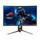 """ASUS ROG Swift 27"""" 1440p 1ms 165Hz DP HDMI G-SYNC Aura Sync Curved Gaming Monitor with Eye Care - PG27VQ"""
