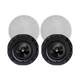 Monoprice Alpha In-Ceiling Speakers 8in Carbon Fiber 2-Way with 15° Angled Drivers (pair)